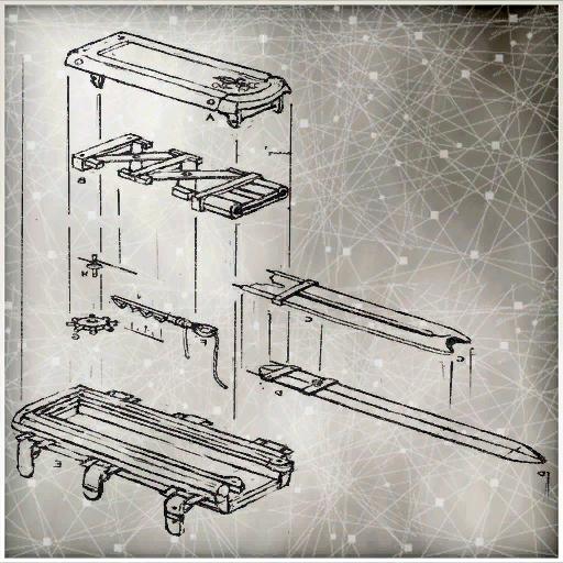Un esquema para armar las partes de una hoja oculta.