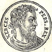 Jerjes I retratado