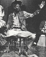 Darryl Maximilian Robinson as Kit Carson in EHP's 1981 revival of William Saroyan's The Time of Your Life
