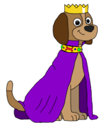 Sparky - Crown and Purple Cape