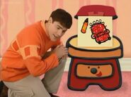 Blue's Clues Sidetable Drawer with Notebook and Orange Crayon