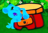 Blue's Clues Sidetable Drawer and Blue Hug