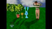Steve, Blue, Shovel, and Pail making shadows