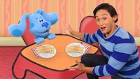 Josh and Blue are Having Graham Crackers