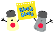Blue's Clues Mrs. Pepper and Mr. Salt with Logo Notepad