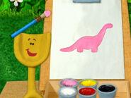 Blue's Clues Shovel Painting