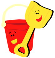 Blue's Clues Shovel and Pail Vector