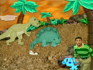 Blue and Steve in Dinosaur Time