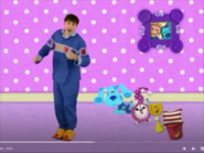 Blue and her crew with pajama's at nighttime