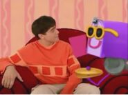 Blue's Clues Mailbox with Sunglasses and Cymbal
