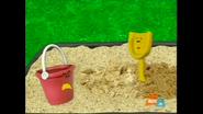 Pail confronting Shovel for destroying their sandcastle