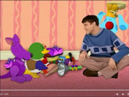 Blue is making Joe, Purple, and Duck laugh
