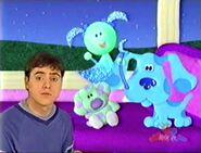 Blue's clues moona blue polka dots joe 23234