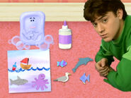 Blue's Clues Slippery Soap with Collage