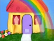 Rainbow in front of the blue s clues house by mracrizzy ddjolxr-fullview