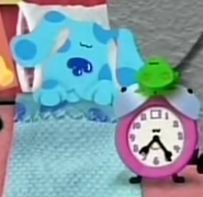 Blue and Tickety Tock sleeping