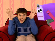 Blue's Clues Mailbox and Joe Making Faces