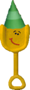 Shovel with Green cone hat