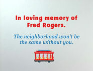 In loving memory of Fred Rogers