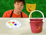 Blue's Clues Pail with Paint Set