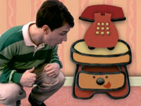 Blue's Clues Sidetable Drawer and Steve