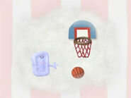 Blue's Clues Slippery Soap Playing Basketball