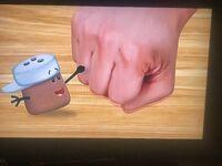 Cinnamon fist bumps Josh