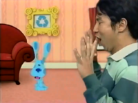 Blue's Clues Korean Mailtime What Does Blue Want to Make Out Recycled Things