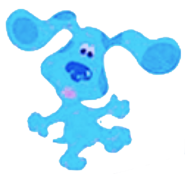 Blue from Blue's Art Time Activities (Windows 98) (friends characters)