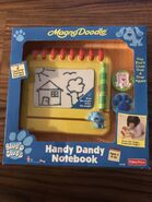Fisher Price Blue's Clues Magna Doodle Handy Dandy Notebook