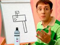 Blue's Clues Mailbox Geometric Drawing