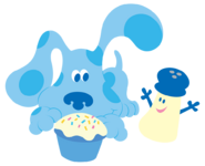 Blues Clues Mr Salt and Blue with Cupcake