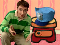 Blue's Clues Sidetable Drawer Police Officer Hat