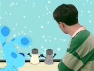 Blue's Clues Mr. Salt and Mrs. Pepper with Snow