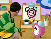 Blue's Clues Tickety Tock with Painting