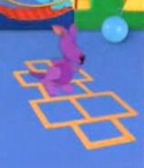 Purple kangaroo hopscotch