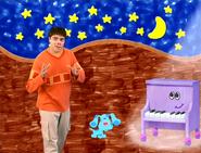 Joe, Blue, and Piano at Night