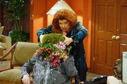Sally dumps plant on Stephanie