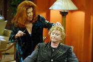 Sally gives Stephanie a hair cut