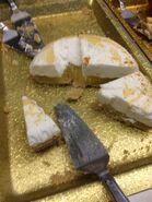 Hibachi lemon cake with frosting
