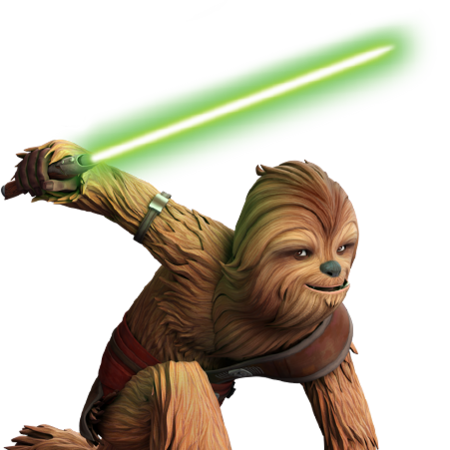 Gungi Wookie Jedi : He could not speak basic, but was able to understand the language and communicate with others by speaking shyriiwook.