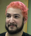 James pink hair
