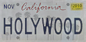 HOLYWOOD license plate