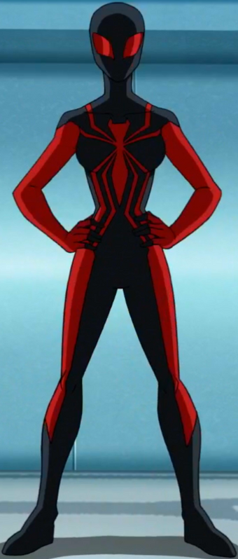 Marvel SPIDER-MAN w// Black 3 Red and Blue Red and Black Suit /& 1-SPIDER-WOMAN