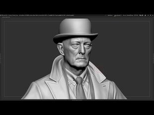The Dark Pictures - The Curator in ZBrush and Maya