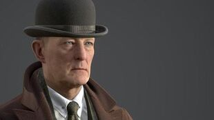 The Dark Pictures - The Curator in his Trench Coat Unreal Engine
