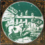 Aesops Fables - The Dog and The Sow - Minton Hollins