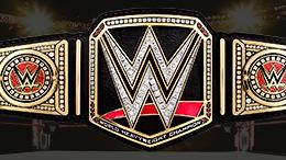 Current WWE Championship belt with default plates