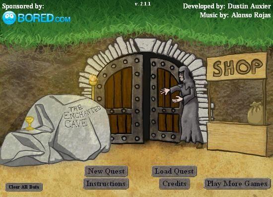 Main menu of the game.
