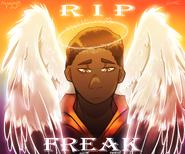 RIP FREAK angel drawing 2021 17th Jan